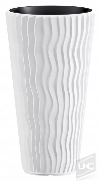 Кашпо sandy slim 30см бел dpsp300-s449 купить по доступной цене | Интернет-магазин uc-shop.by